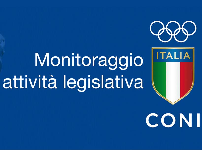 monitoraggio CONI attività legislativa