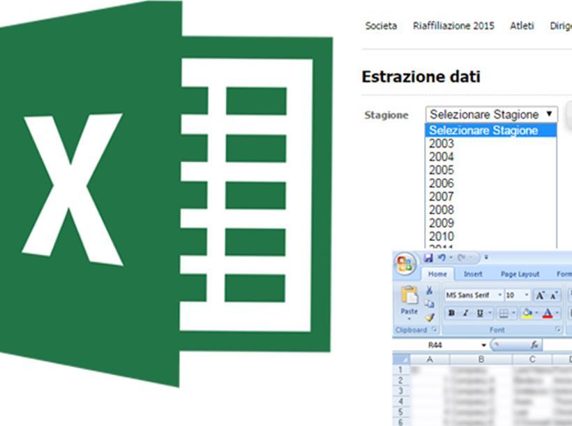 Dowload Excel Tesserati