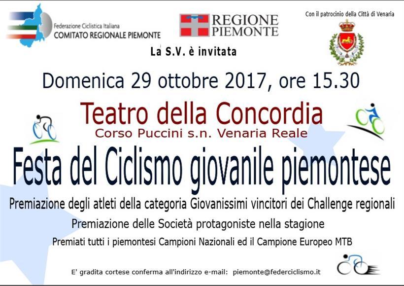 Festa Ciclismo Giovanile Piemonte