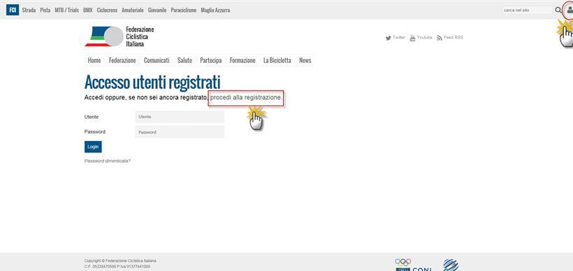 Accesso utenti registrati