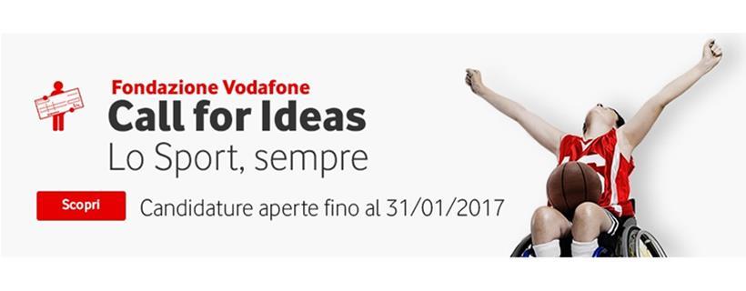 Call for Ideas Fondazione Vodafone